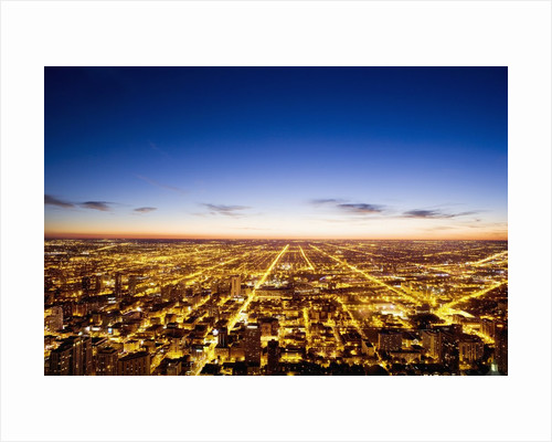 View of Chicago from Sears Tower by Corbis