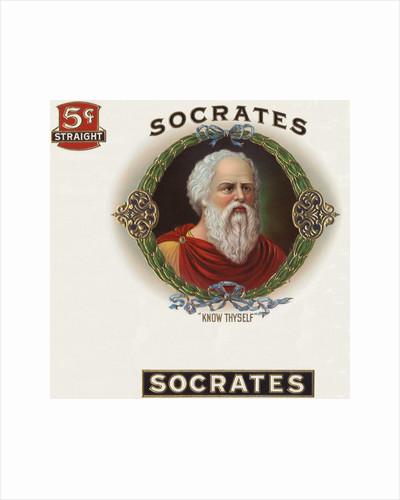 Socrates Cigar Box Label by Corbis