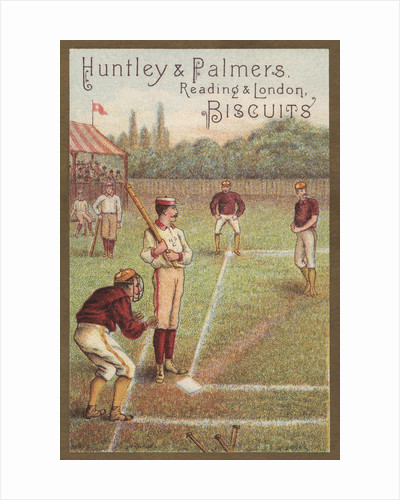 Old Fashioned Baseball Game Illustration by Corbis