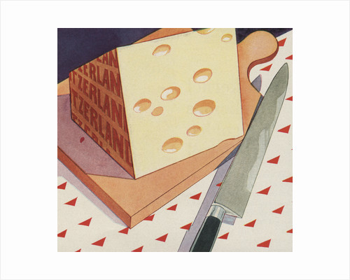 Illustration of Swiss Cheese by Corbis