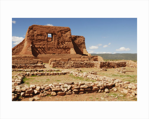 Mission Ruins at Pecos National Monument by Corbis
