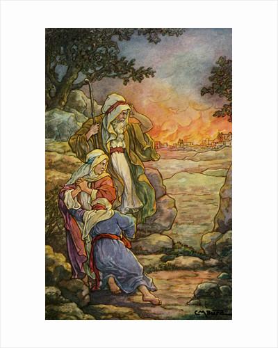 The Burning of Sodom by Clara M. Burd
