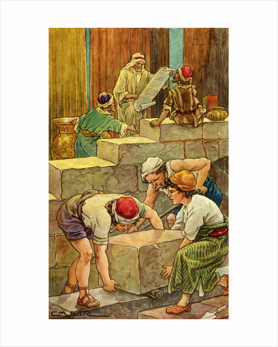 The Building of the Temple of Solomon by Clara M. Burd