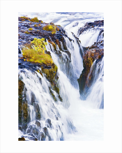 Bruarfoss Waterfall in Iceland by Corbis