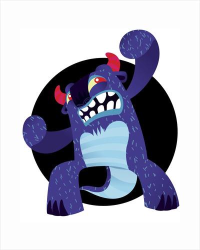 Cute Blue Monster by Corbis