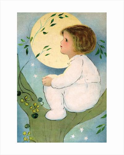 Illustration of Girl Sitting in Tree by Margaret Evans Price