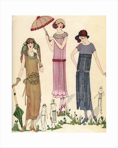 Illustration of Women in 1920s Fashion by Corbis