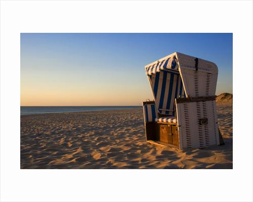 Empty Beach Chair on Weststrand Beach in Evening by Corbis