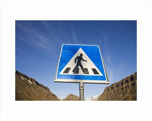 Pedestrian Crossing in Longyearbyen by Corbis
