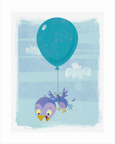 Baby Bird Attached to Balloon by Corbis