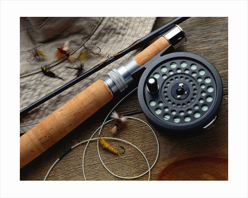 Fishing Reel and Lures by Corbis