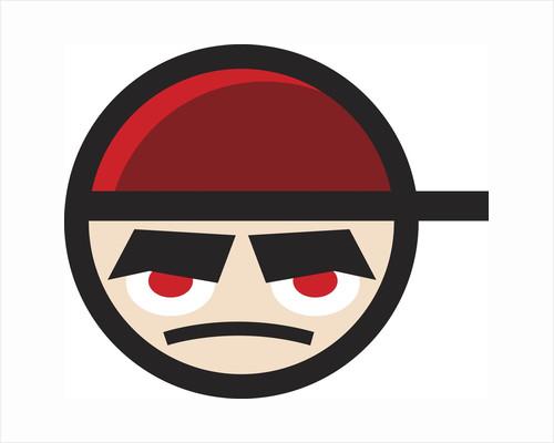 Grumpy cartoon face by Corbis