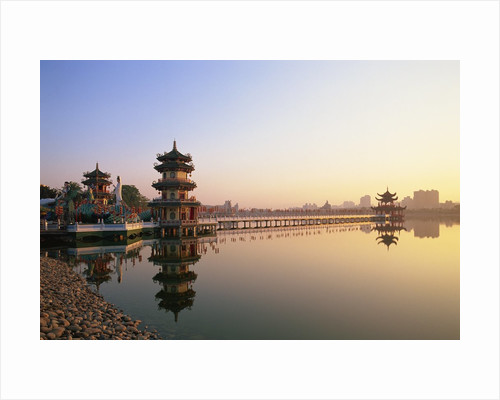 Spring and Autumn Pavilions on Lotus Lake by Corbis