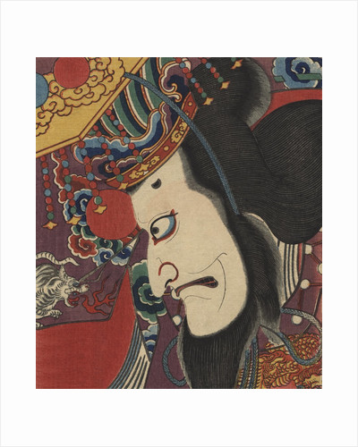 Detail of Two Kabuki Actors by Toyokuni III