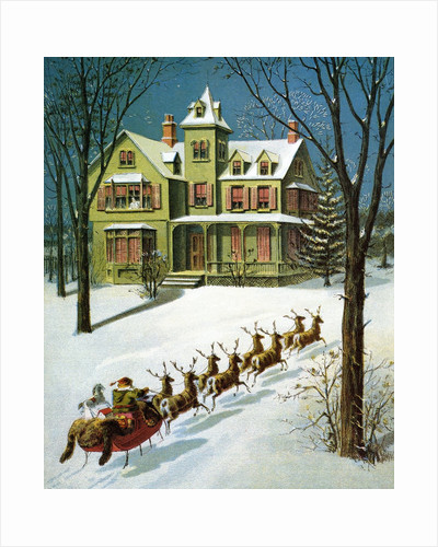 A Miniature Sled, and Eight Tiny Reindeer by William Roger Snow