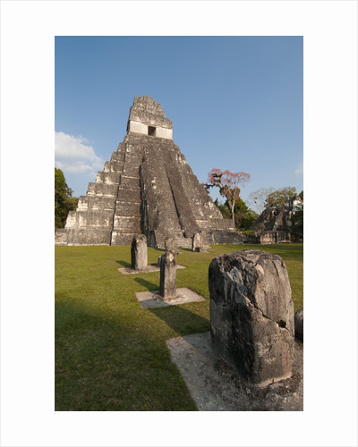 Temple I and the Great Plaza at Tikal by Corbis
