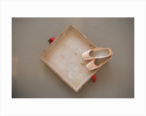 Ballet shoes waiting for the show by Corbis