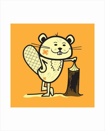Cartoon beaver by Corbis