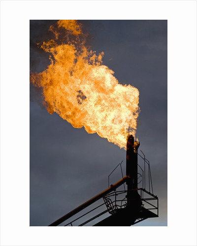 Natural gas flare by Corbis