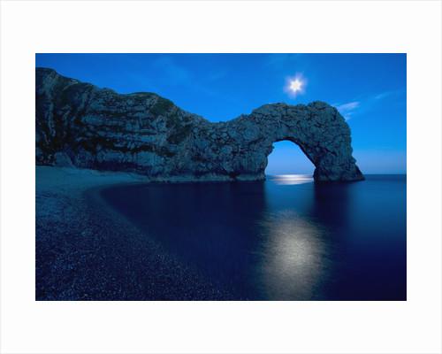 Durdle Door arched rock formation on the Dorset coast by Corbis