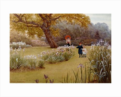 A Walk in the Garden by Frederick Hamilton Jackson