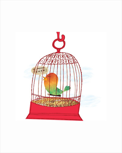 A Caged Bird Singing by Corbis