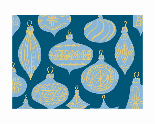 Blue Christmas Ornaments by Corbis