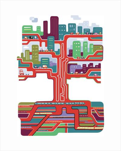 Tree of Transportation by Corbis