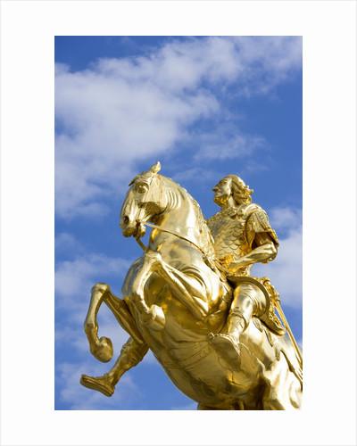 Golden Rider Equestrian Statue in Dresden by Corbis