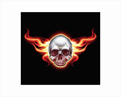 Flaming skull by Corbis