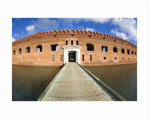 Entrance bridgeway over the moat to enter Fort Jefferson by Corbis