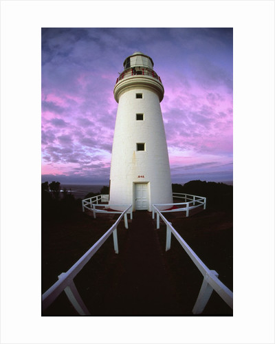 Cape Otway Lighthouse at sunrise by Corbis
