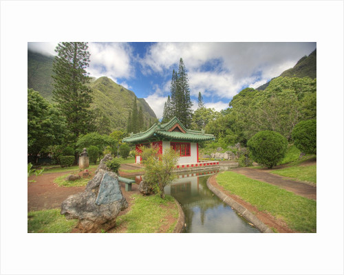 Japanese Garden at Kepaniwai Heritage Gardens on Maui by Corbis