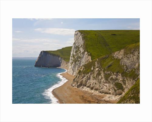 Cliffs above Lulworth Cove on Dorset's Jurassic Coast by Corbis
