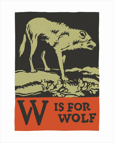W is for wolf by Corbis