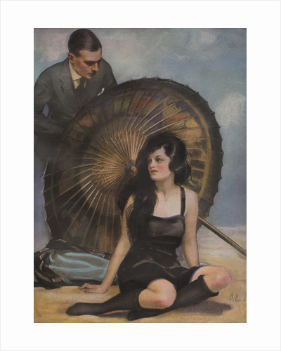 Woman and man with Japanese parasol by Corbis