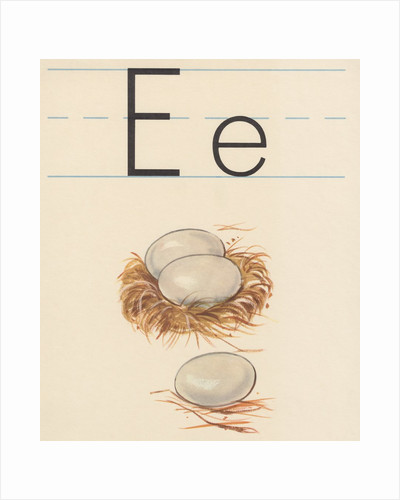 E is for egg by Corbis