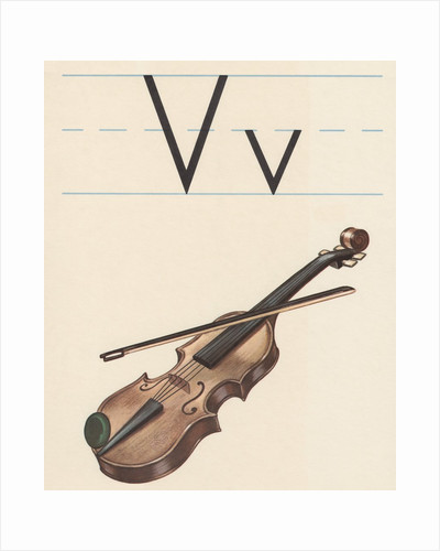 V is for violin by Corbis