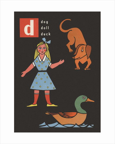 D is for dog doll duck by Corbis
