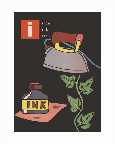 I is for iron ink ivy by Corbis