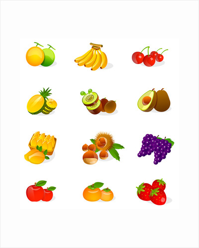 Different types of fruits by Corbis