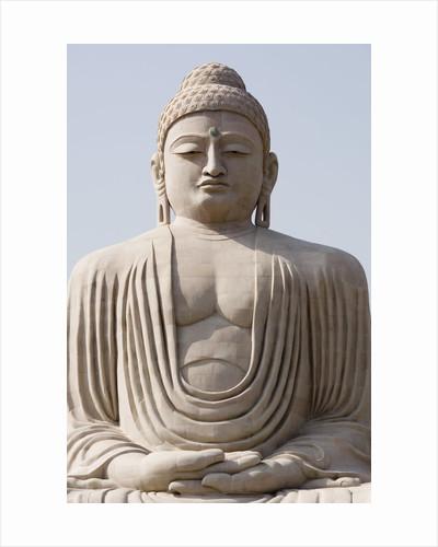 Low angle view of a statue of Buddha, The Great Buddha Statue, Bodhgaya, Gaya, Bihar, India by Corbis