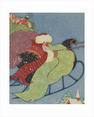 Santa Claus driving sleigh by Corbis