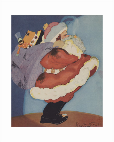 Santa Claus with bag of toys by Corbis