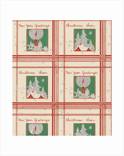Christmas cheer and new year greetings pattern by Corbis