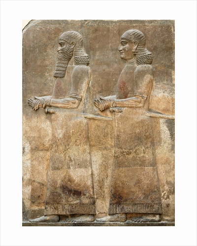 Assyrian low-relief of two civil servants by Corbis