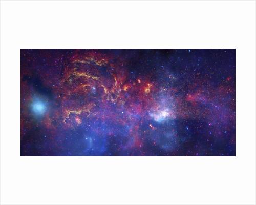 Central Region of the Milky Way Galaxy by Corbis