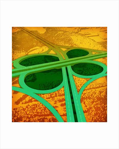 Green clover overpass by Corbis