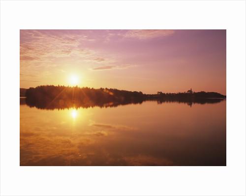 Sunrise Over Saint Peters, Cape Breton, Nova Scotia, Canada by Corbis