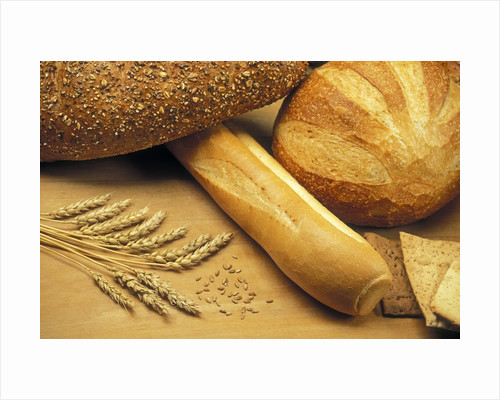 Bread and Wheat, Winnipeg, Manitoba, Canada. by Corbis